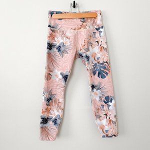 Lorna Jane Ankle Biter Tight High Rise Floral Pink